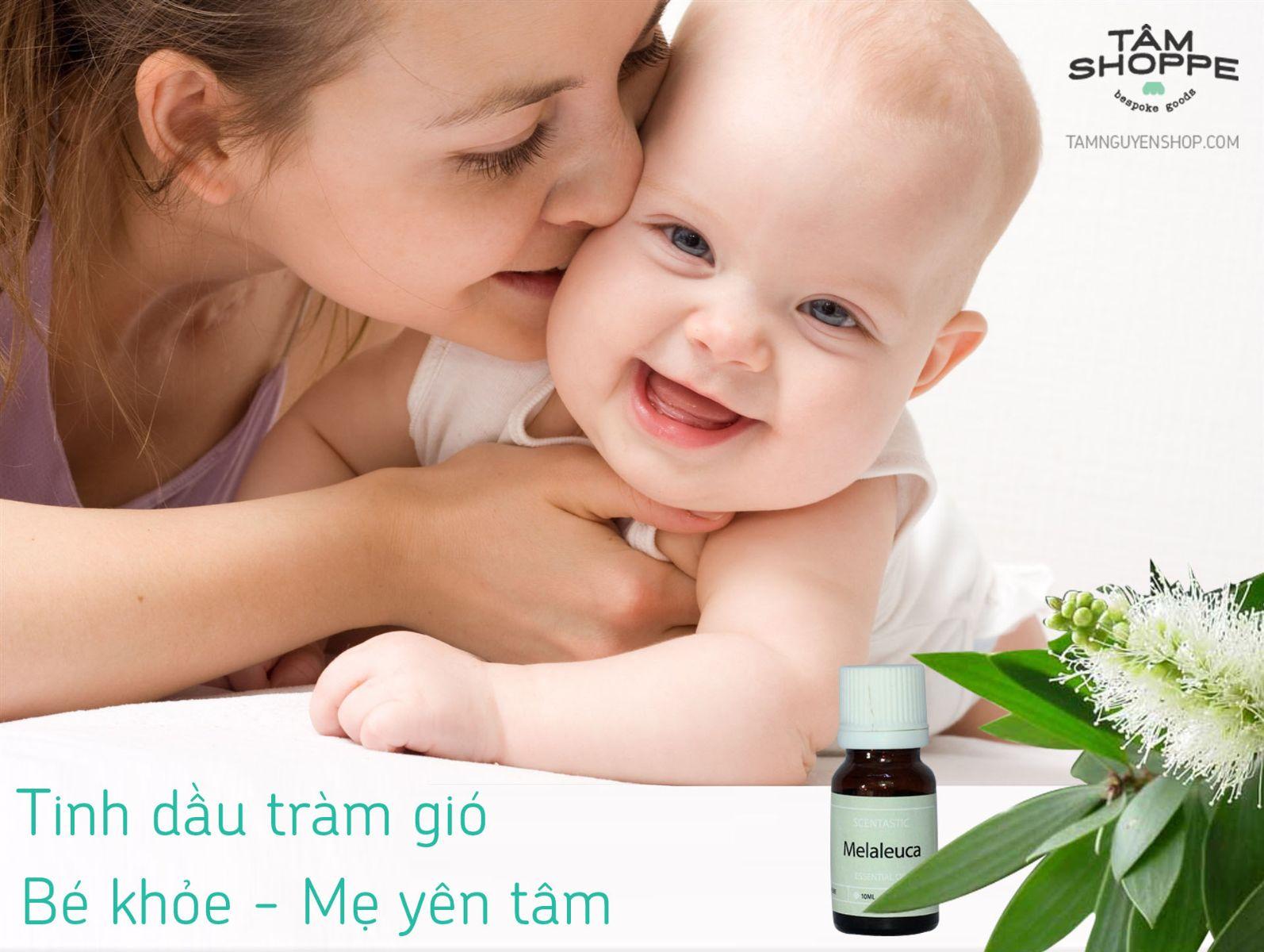 Tinh dầu tràm gió rất tốt cho sức khỏe của trẻ em